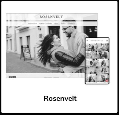 Rosenvelt homepage template