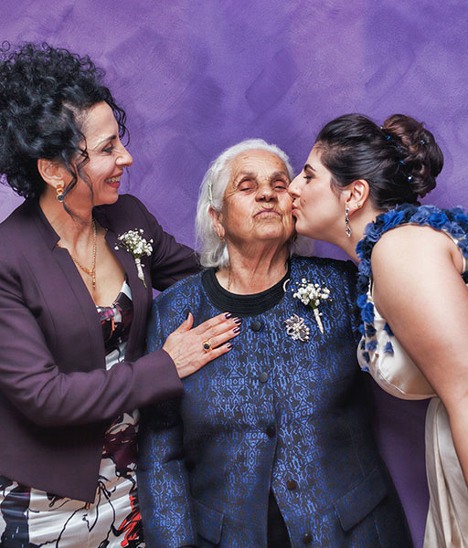 three generations of women together