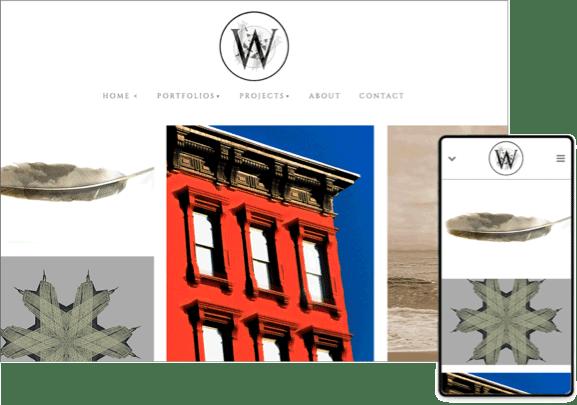 williams studio template online photo gallery