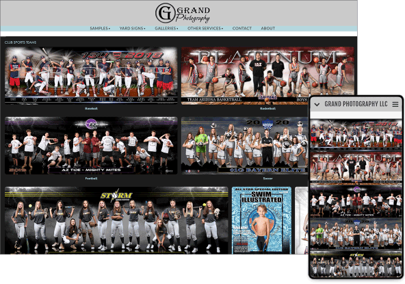 e-commerce sports online photo gallery