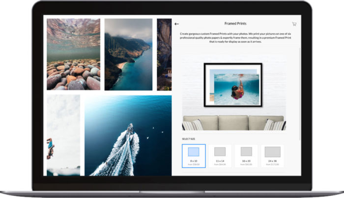 online photography business on laptop