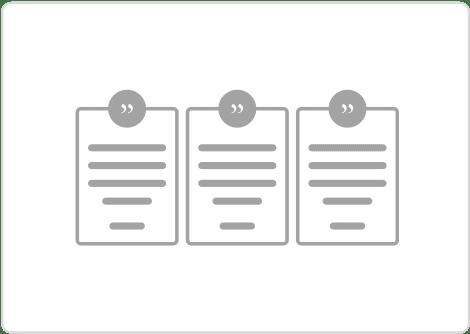 content block testimonial columns